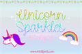 Illustration of font Unicorn Sparkles