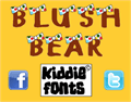 Illustration of font BLUSH BEAR