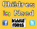Illustration of font Children in Need