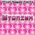 Illustration of font Utonium