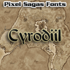 Sample image of Cyrodiil font by Pixel Sagas
