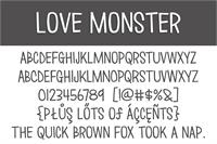 Sample image of Love ∞ Monster font by Brittney Murphy Design