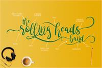 Sample image of brushgyo font by Alit Design