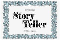 Sample image of Storyteller font by Eva Barabasne Olasz