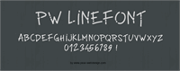Sample image of PWLinefont by Peax Webdesign