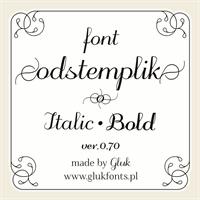 Sample image of odstemplik font by gluk