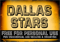 Sample image of CF Dallas Stars font by CloutierFontes