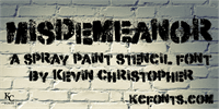 Sample image of Misdemeanor font by KC Fonts