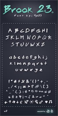 Sample image of Brook 23 font by mgl23