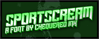 Sample image of Sportscream font by Chequered Ink