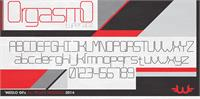 Sample image of Orgasmo font by weslo
