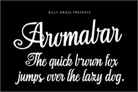 Sample image of Aromabar Personal Use font by Billy Argel