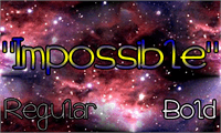 Sample image of Impossible font by Magic Fonts