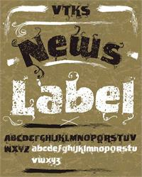 Sample image of VTKS News Label font by VTKS DESIGN