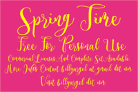 Sample image of Spring Time Personal Use font by Billy Argel