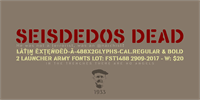 Sample image of Seisdedos Dead font by deFharo