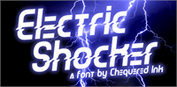 Sample image of Electric Shocker font by Chequered Ink