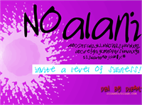 Sample image of NOALANI font by Dizam