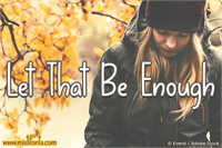 Sample image of Let That Be Enough font by Misti's Fonts