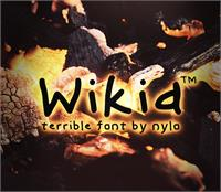 Sample image of Wikid font by NyloGD