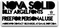 Sample image of Nova SOLID font by Billy Argel