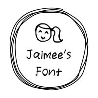 Sample image of jaimee_s_Font by Jaimee Riefania