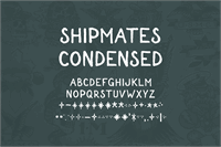 Sample image of Shipmates font by Out Of Step Font Company