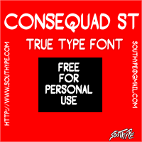 Sample image of Consequad St font by Southype