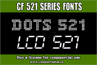 Sample image of CF Dots 521 font by CloutierFontes