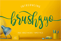 Sample image of brushgyo font by Alit Design