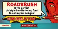 Sample image of KTF-Roadbrush font by KTF   Kustomtype