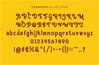 Sample image of Hello Thankies font by figuree