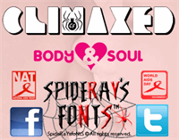 Sample image of CLIMAXED font by SpideRaYsfoNtS