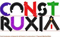Sample image of Constrxia font by Manfred Klein