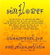 Sample image of Sunflower font by Uzim