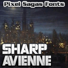 Sample image of Sharp Avienne font by Pixel Sagas