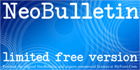 Sample image of NeoBulletin Limited Free Versio font by Intellecta Design