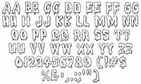 Sample image of Meltdown MF font by Rick Mueller