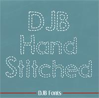 Sample image of DJB Hand Stitched Alpha font by Darcy Baldwin Fonts
