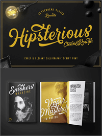 Sample image of Hipsterious DEMO font by Letterhend Studio