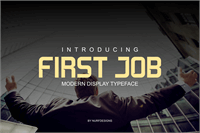 Sample image of First Job font by Nurf Designs