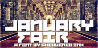 Sample image of January Fair font by Chequered Ink