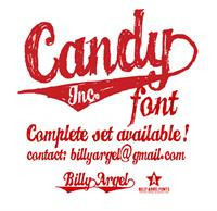 Sample image of CANDY INC. font by Billy Argel