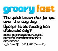 Sample image of Groovy Fast font by Zdeněk Gromnica