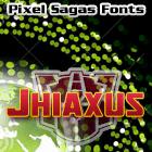 Sample image of Jhiaxus font by Pixel Sagas
