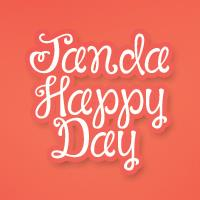 Sample image of Janda Happy Day font by Kimberly Geswein