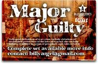 Sample image of MAJOR GUILTY font by Billy Argel