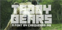 Sample image of Teddy Bears font by Chequered Ink