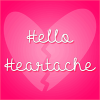 Sample image of Hello Heartache font by Misti's Fonts