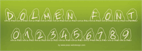 Sample image of PWDolmen font by Peax Webdesign